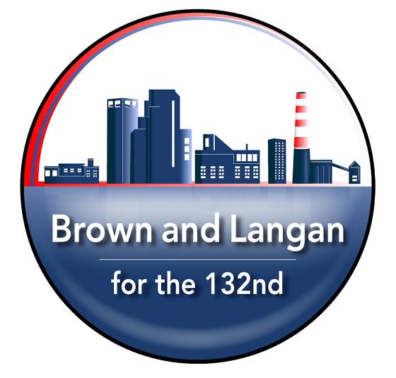 Marcus Brown and Kyle Langan for the 132nd District